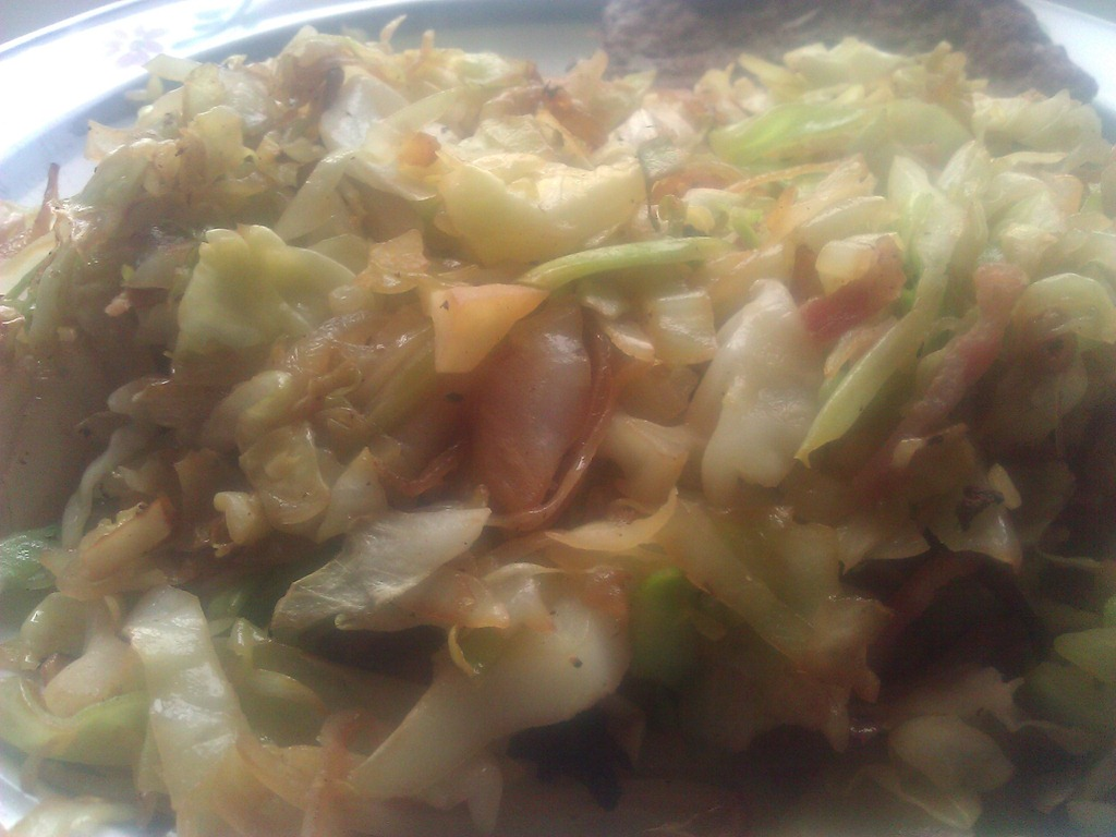 Pan fried cabbage recipe